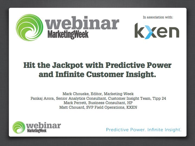 Hit the Jackpot with Predictive Power & Infinite Customer Insight