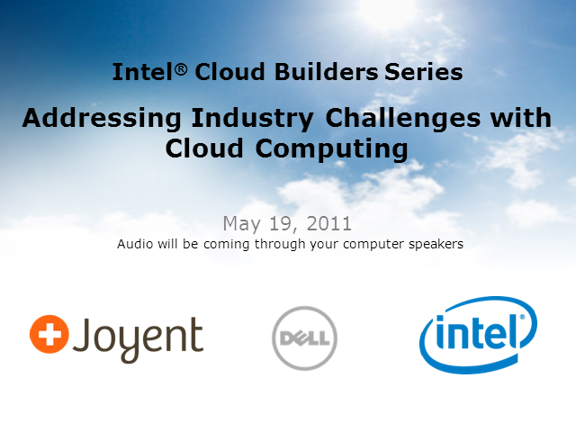 Addressing Industry Challenges with Cloud Computing