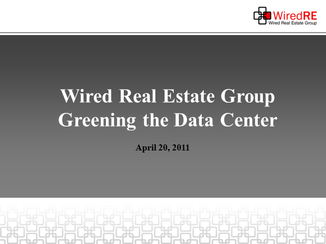 Creating the Green Data Center