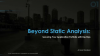 Beyond Static Analysis: Securing Your Application Portfolio with DevOps