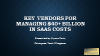 Key Vendors for Managing $40+ Billion in SaaS Costs