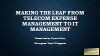 Making the Leap from TEM to IT Management