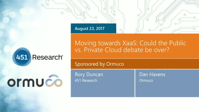 Moving towards XaaS: Could the Public versus Private Cloud debate be over?