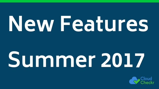 New Features Summer 2017