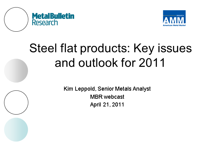 Steel flat products: Key issues for tube and pipe makers in 2011