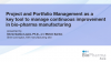 Project and Portfolio Management as a key tool to manage continuous improvement
