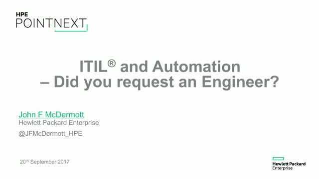 ITIL and Automation - Did we Request an Engineer?