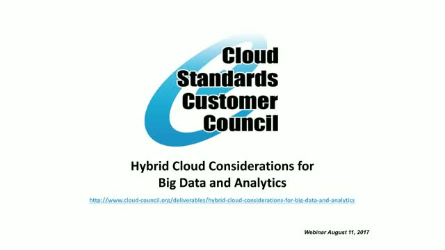 Hybrid Cloud Considerations for Big Data and Analytics
