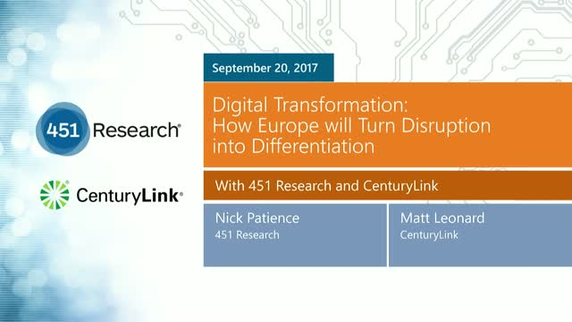Digital Transformation: How Europe will turn disruption into differentiation