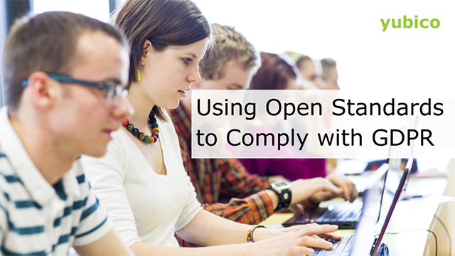 Using Open Standards to Comply with GDPR