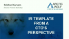 CTO's Perspective on Creating a Template for an Incident Response