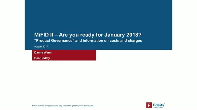 MiFID II - are you ready for January 2018?
