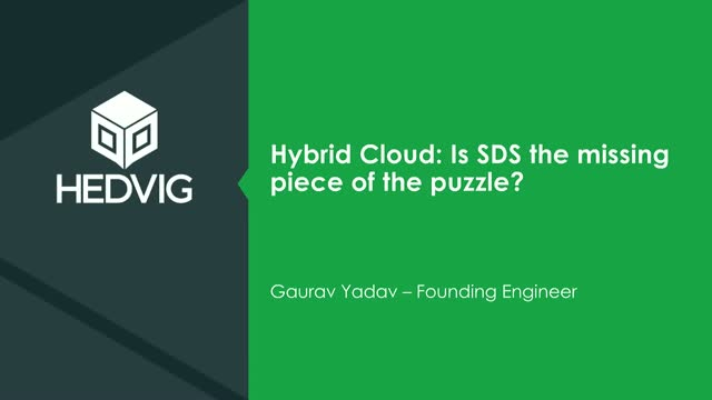 Hybrid Cloud: Is Software-Defined Storage the Missing Piece of the Puzzle?