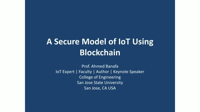 A Secure Model of IoT Using Blockchain