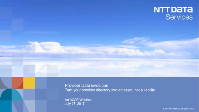 Provider Data Evolution