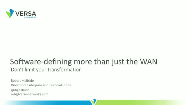 Software-Defining More than Just the WAN