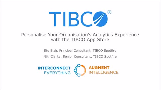 Personalise Your Organisation's Analytics Experience with TIBCO App Store