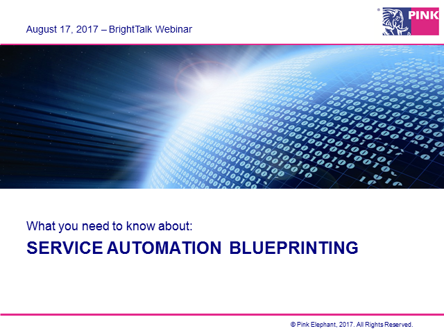 Service Automation Blueprinting