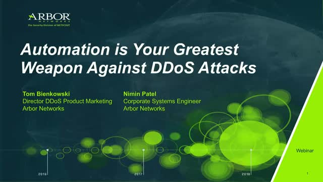 Intelligent Automation is Your Greatest Weapon Against DDoS Attacks