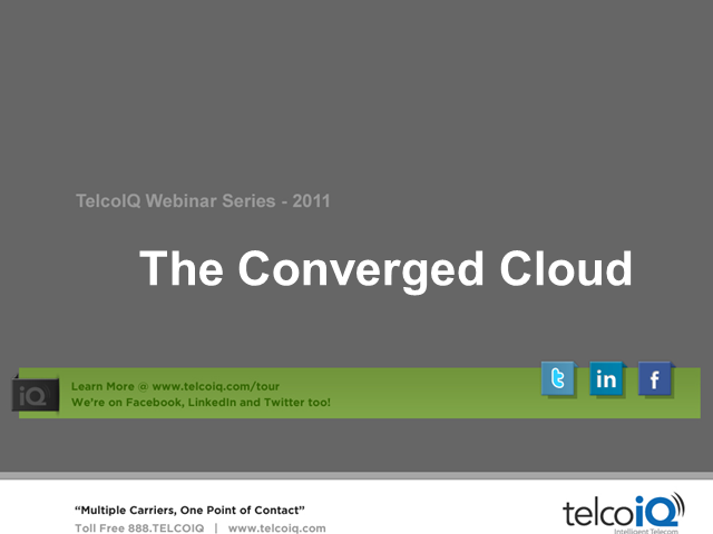 The Converged Cloud