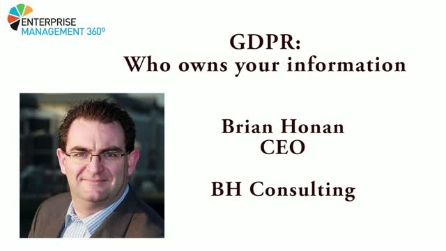 GDPR – Who owns your information?