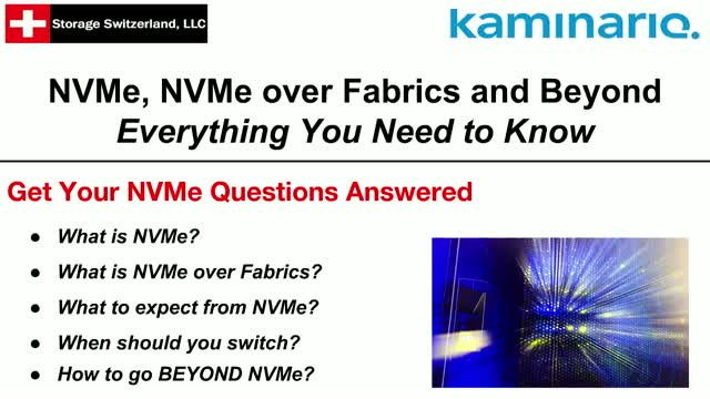 NVMe, NVMe over Fabrics and Beyond - Everything You Need to Know