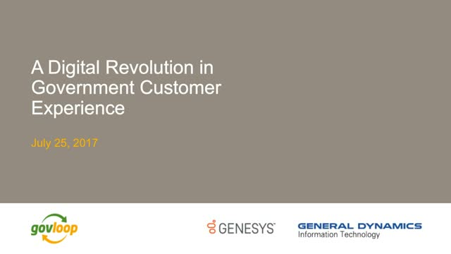 A Digital Revolution in Government Customer Experience