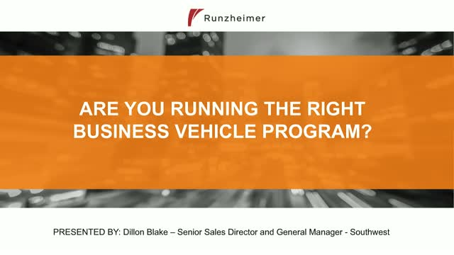 Are You Running The Right Business Vehicle Program?