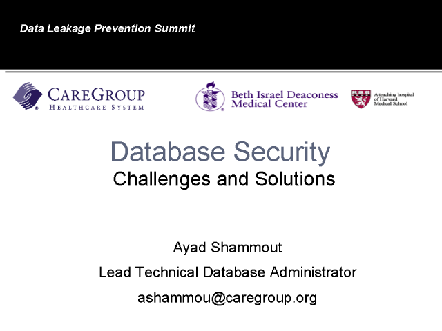 Database Security: Challenges & Solutions