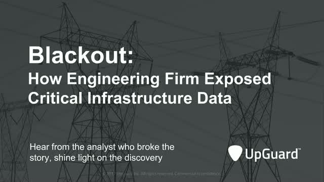 Blackout: How Engineering Firm Exposed Critical Infrastructure Data