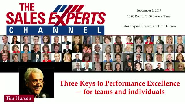 Three Keys to Performance Excellence — for teams and individuals