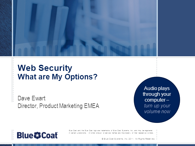 Web Security – What Are My Options?