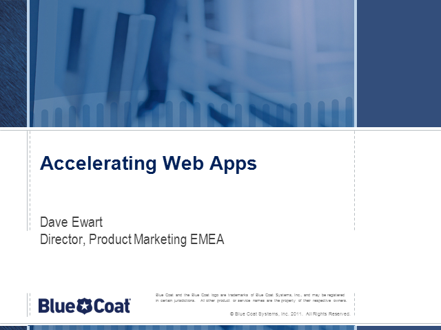 Accelerating Web Apps