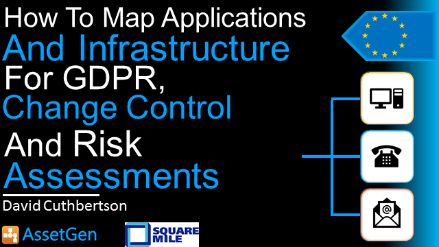How To Map Applications & Infrastructure for GDPR, Change control and Risk