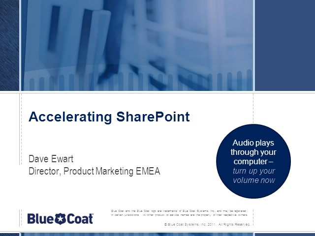 Accelerating Sharepoint over the WAN or Cloud