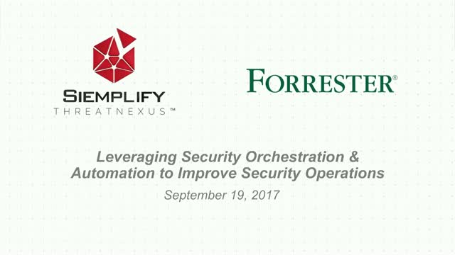 Leveraging Security Orchestration & Automation to Improve Security Operations