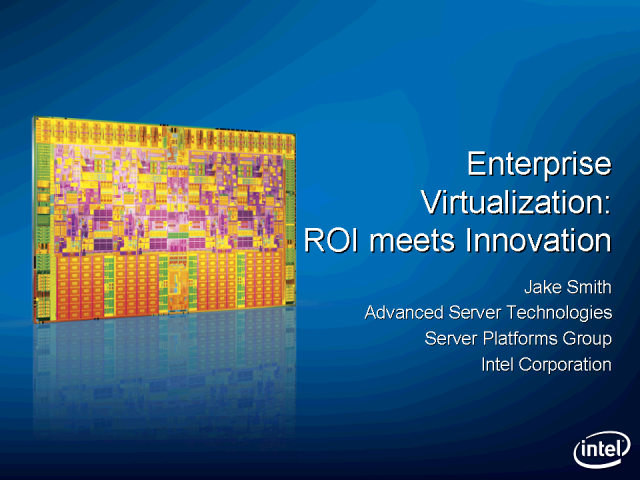 Virtualization Technology is Where Innovation and ROI Meet