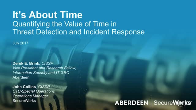 The Value of Time in Threat Detection and Incident Response