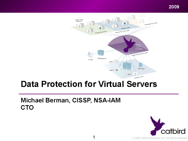 Data Protection for Virtualized Servers