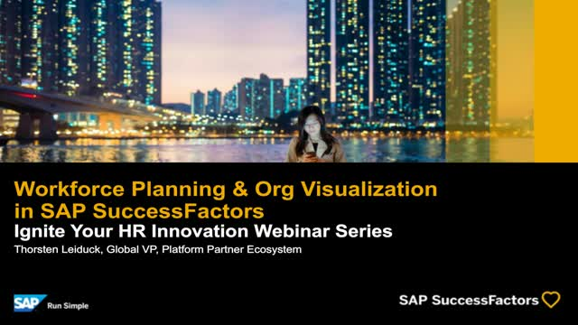 Workforce Planning & Org Visualization in SAP SuccessFactors