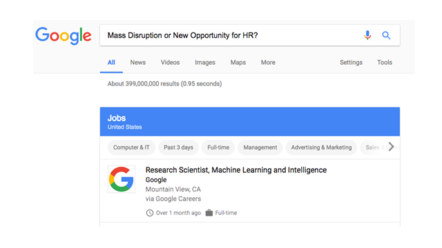 Google for Jobs: Mass Disruption or a New Opportunity for HR Leaders?
