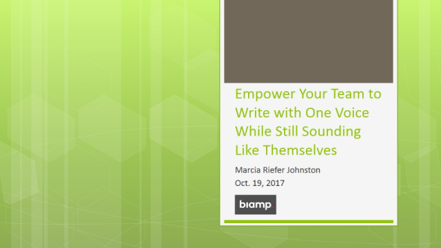 Empower Your Team to Write with One Voice While Still Sounding Like Themselves