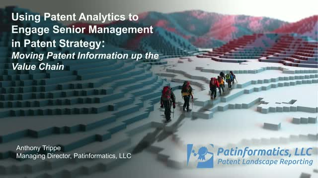 How to engage senior management in patent strategy and corporate value creation