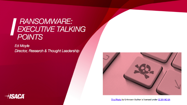 Ransomware: Executive Talking Points