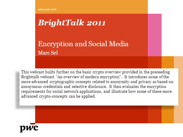 Encryption & the New Social Media