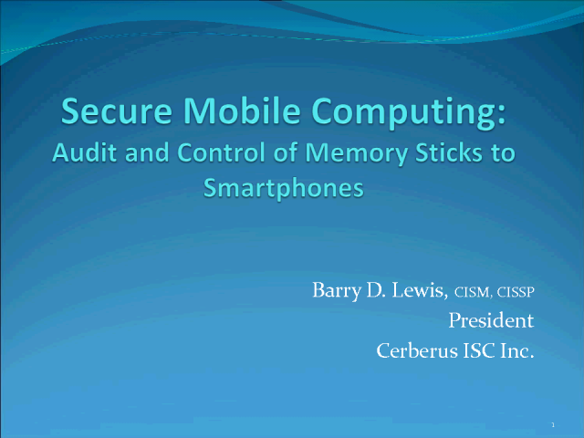 Audit and Control of Memory Sticks to Smartphones