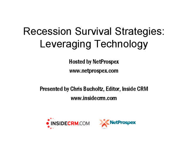 Recession Survival Strategies: Leveraging Technology