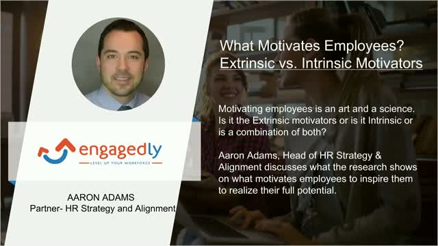What Motivates Employees? Extrinsic vs. Intrinsic Motivators