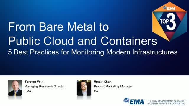 From Bare Metal to Public Cloud and Containers - 5 Monitoring Best Practices