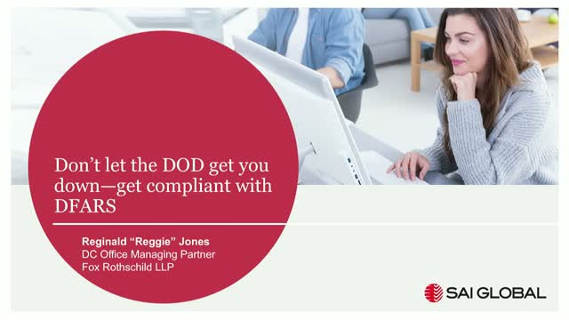 Don't let the DOD get you down—get compliant with DFARS